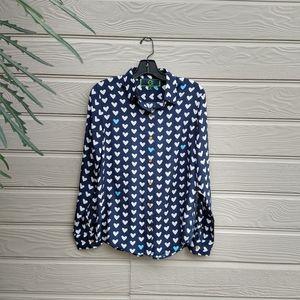C Wonder silk blouse ❤️ motif